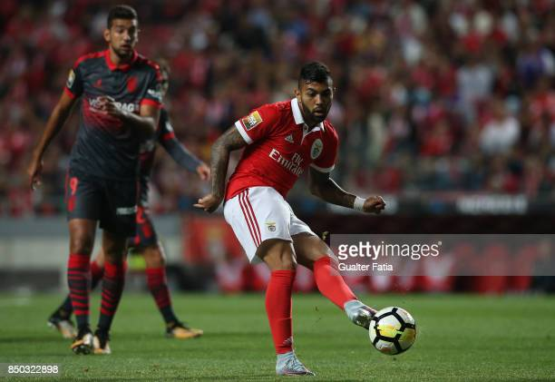 Benfica forward Gabriel Barbosa from Brazil in action during the Portuguese League Cup match between SL Benfica and SC Braga at Estadio da Luz on...