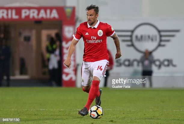 Benfica forward Haris Seferovic from Switzerland in action during the Primeira Liga match between GD Estoril Praia and SL Benfica at Estadio Antonio...