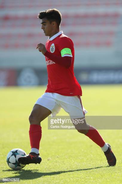 Benfica forward Joao Filipe from Portugal during SL Benfica v FC Basel 1893 UEFA Youth League round six match at Caixa Campus on December 05 2017 in...