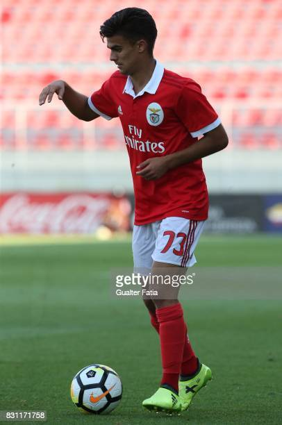 Benfica forward Joao Filipe from Portugal in action during the Segunda Liga match between SL Benfica B and CD Nacional at Caixa Futebol Campus on...