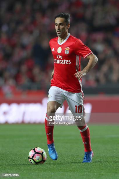 Benfica forward Jonas from Brasil during the match between SL Benfica and GD Chaves for the Portuguese Primeira Liga at Estadio da Luz on February 24...