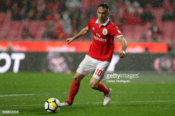 Benfica forward Jonas from Brasil during the Portuguese Primeira Liga match between SL Benfica and CS Maritime at Estadio da Luz on March 3 2018 in...