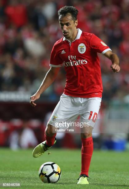 Benfica forward Jonas from Brasil in action during the Primeira Liga match between SL Benfica and SC Braga at Estadio da Luz on August 9 2017 in...