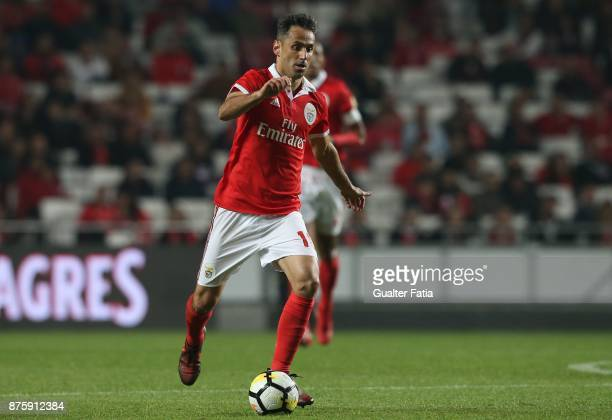 Benfica forward Jonas from Brazil in action during the Portuguese Cup match between SL Benfica and Vitoria Setubal at Estadio da Luz on November 18...