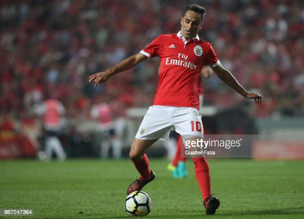 Benfica forward Jonas from Brazil in action during the Primeira Liga match between SL Benfica and CD Feirense at Estadio da Luz on October 27 2017 in...