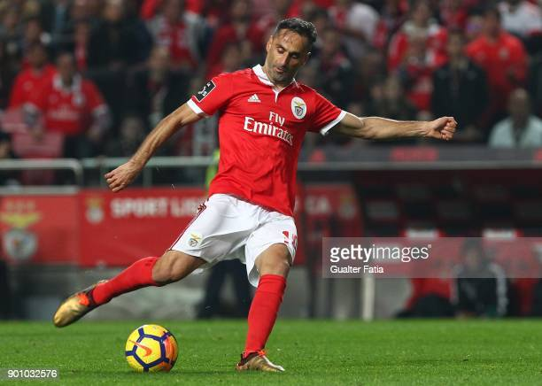 Benfica forward Jonas from Brazil in action during the Primeira Liga match between SL Benfica and Sporting CP at Estadio da Luz on January 3 2018 in...