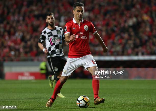 Benfica forward Jonas from Brazil in action during the Primeira Liga match between SL Benfica and Boavista FC at Estadio da Luz on February 17 2018...
