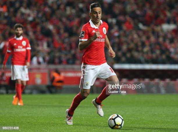 Benfica forward Jonas from Brazil in action during the Primeira Liga match between SL Benfica and CD Aves at Estadio da Luz on March 10 2018 in...