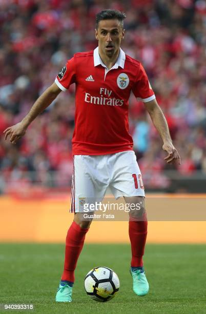 Benfica forward Jonas from Brazil in action during the Primeira Liga match between SL Benfica and Vitoria Guimaraes at Estadio da Luz on March 31...