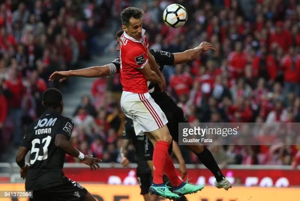 Benfica forward Jonas from Brazil scores goal during the Primeira Liga match between SL Benfica and Vitoria Guimaraes at Estadio da Luz on March 31...