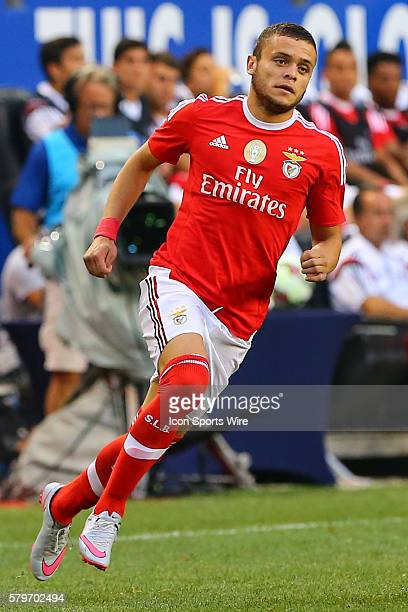 Benfica Forward Jonathan Rodriguez during the first half of the game between the New York Red Bulls and SL Benfica played at Red Bull Arena in...