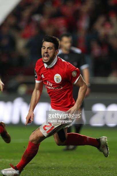 Benfica forward Pizzi from Portugal celebrates scoring Benfica second goal during the match between SL Benfica and Rio Ave FC for the Portuguese...
