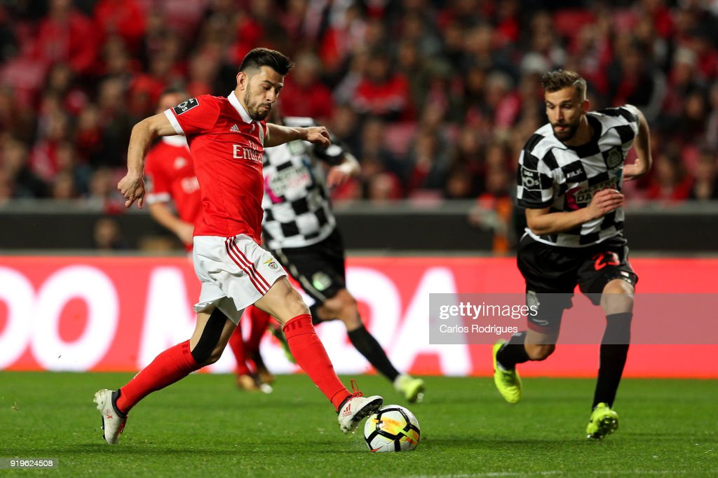 SL Benfica forward Pizzi from Portugal during the Portuguese Primeira Liga match between SL Benfica and Boavista FC at Estadio da Luz on February 17, 2018 in Lisbon, Lisboa.
