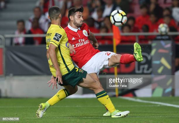 Benfica forward Pizzi from Portugal in action during the Primeira Liga match between SL Benfica and FC Pacos de Ferreira at Estadio da Luz on...