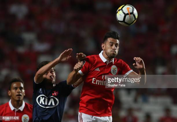 Benfica forward Pizzi from Portugal with CF Os Belenenses midfielder Filipe Chaby from Portugal in action during the Primeira Liga match between SL...