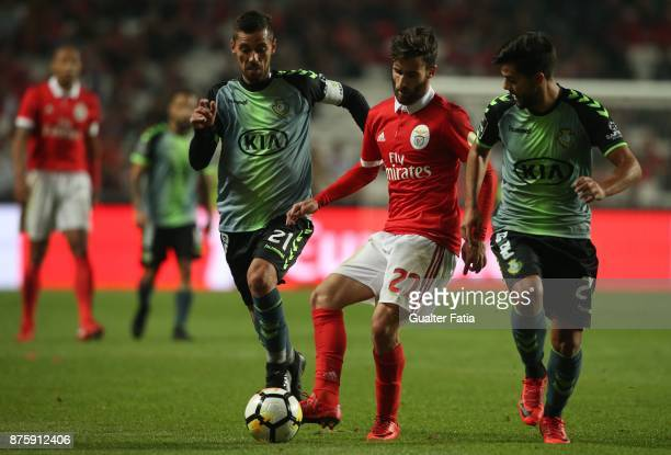 Benfica forward Rafa Silva from Portugal in action during the Portuguese Cup match between SL Benfica and Vitoria Setubal at Estadio da Luz on...