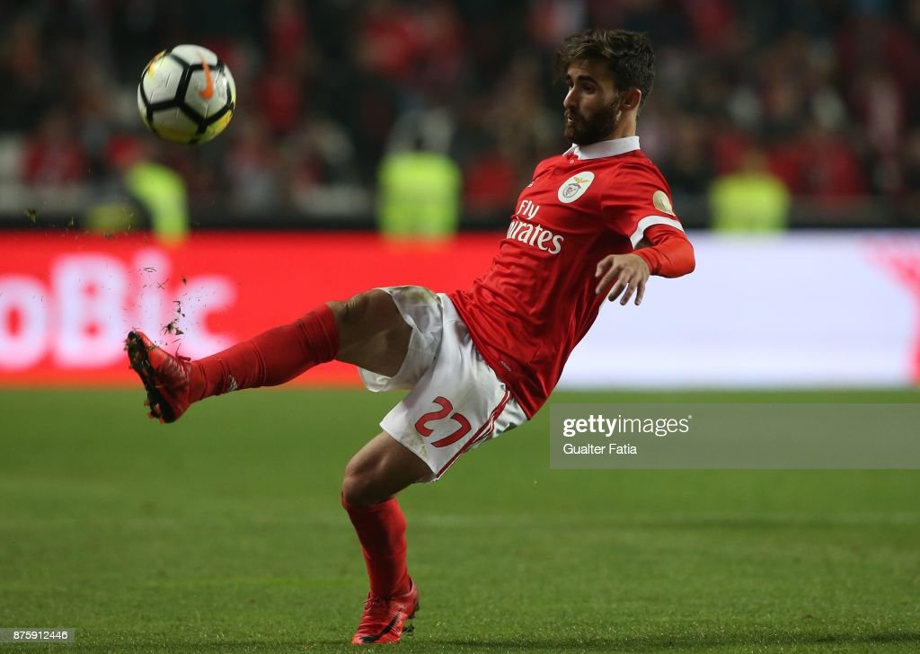 SL Benfica forward Rafa Silva from Portugal in action during the Portuguese Cup match between SL Benfica and Vitoria Setubal at Estadio da Luz on November 18, 2017 in Lisbon, Portugal.