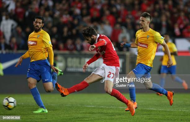 Benfica forward Rafa Silva from Portugal in action during the Primeira Liga match between GD Estoril Praia and SL Benfica at Estadio Antonio Coimbra...