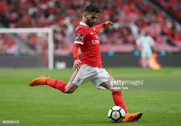 Benfica forward Rafa Silva from Portugal in action during the Primeira Liga match between SL Benfica and CD Tondela at Estadio da Luz on April 28...