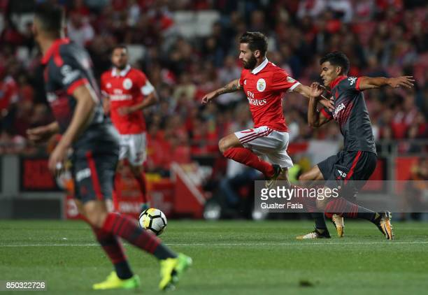 Benfica forward Rafa Silva from Portugal with SC Braga midfielder Danilo Silva from Brazil in action during the Portuguese League Cup match between...
