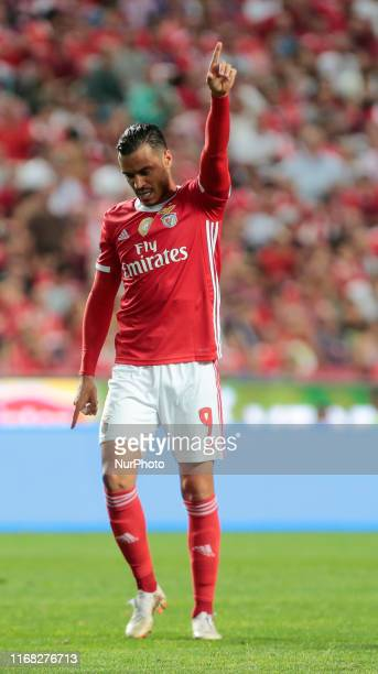 SL Benfica Forward Raul de Tomas in action during the Premier League 2019/20 match between SL Benfica and Gil Vicente FC at Luz Stadium in Lisbon on...