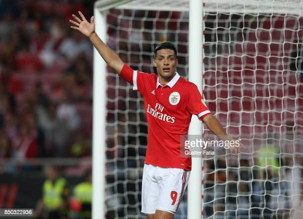 Benfica forward Raul Jimenez from Mexico during the Portuguese League Cup match between SL Benfica and SC Braga at Estadio da Luz on September 20...