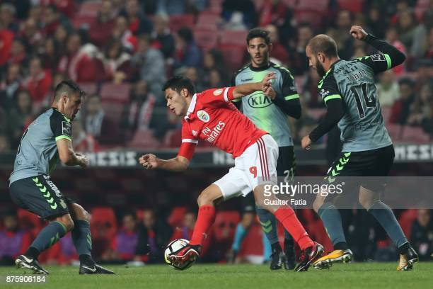 Benfica forward Raul Jimenez from Mexico in action during the Portuguese Cup match between SL Benfica and Vitoria Setubal at Estadio da Luz on...