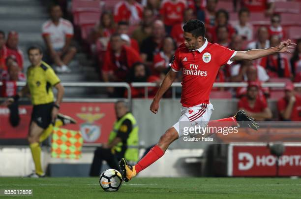 Benfica forward Raul Jimenez from Mexico in action during the Primeira Liga match between SL Benfica and CF Os Belenenses at Estadio da Luz on August...