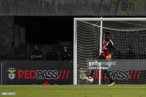 Benfica goalkeeper Bruno Varela from Portugal during the match between SL Benfica and Vitoria Setubal FC for the Internacional Tournament of Sadoat...