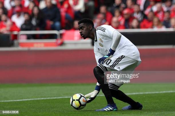 Benfica goalkeeper Bruno Varela from Portugal during the Portuguese Primeira Liga match between SL Benfica and FC Porto at Estadio da Luz on April 15...