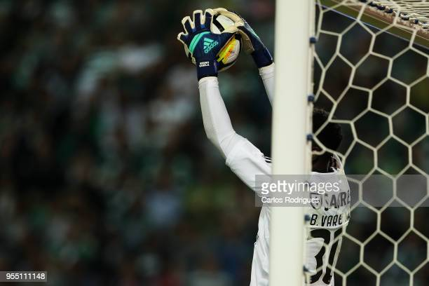 Benfica goalkeeper Bruno Varela from Portugal during the Portuguese Primeira Liga match between Sporting CP and SL Benfica at Estadio Jose Alvalade...