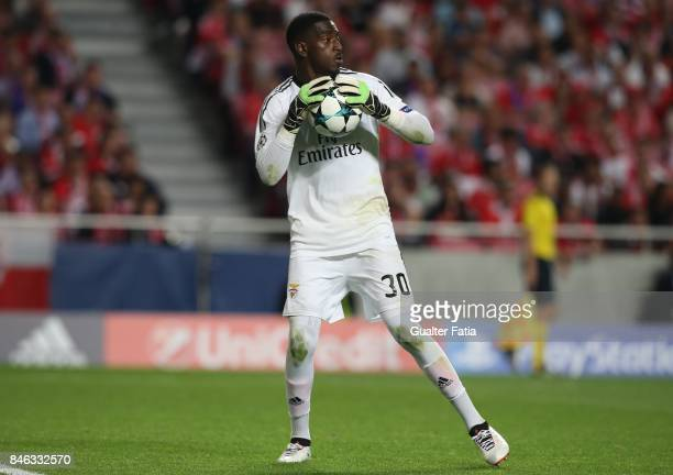 Benfica goalkeeper Bruno Varela from Portugal in action during the UEFA Champions League match between SL Benfica and CSKA Moskva at Estadio da Luz...