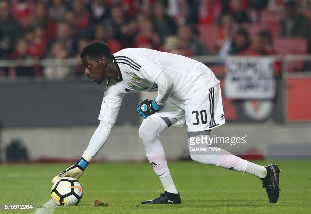 Benfica goalkeeper Bruno Varela from Portugal in action during the Portuguese Cup match between SL Benfica and Vitoria Setubal at Estadio da Luz on...