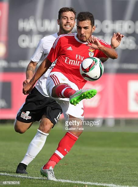 Benfica II's defender Alexandre Alfaiate in action during the Primeira Liga match between SL Benfiva II and Academica de Viseu at Caixa Futebol...