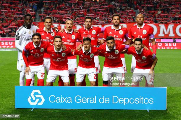 Benfica inicial team during the match between SL Benfica and FC Vitoria Setubal for the Portuguese Primeira Liga at Estadio da Luz on November 26...