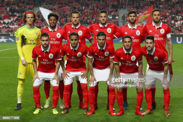 Benfica initial team during SL Benfica v FC Basel UEFA Champions League round six match at Estadio da Luz on December 05 2017 in Lisbon Portugal