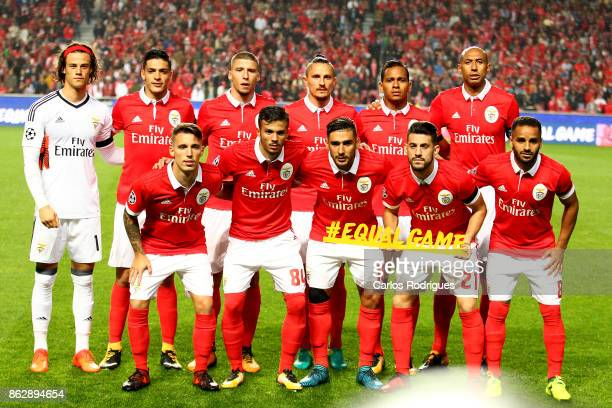 Benfica initial team during SL Benfica v Manchester United UEFA Champions League round three match at Estadio da Luz on October 18 2017 in Lisbon...