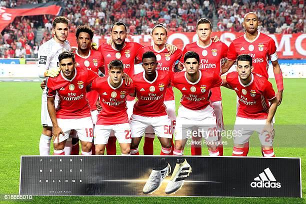 Benfica initial team during the Benfica v Pacos Ferreira Primeira Liga at Estadio da Luz on October 28 2016 in Lisbon Portugal