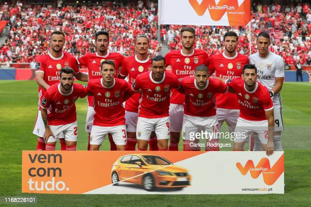 Benfica initial team during the Liga NOS round five match between SL Benfica and Gil Vicente FC at Estadio da Luz on September 14 2019 in Lisbon...