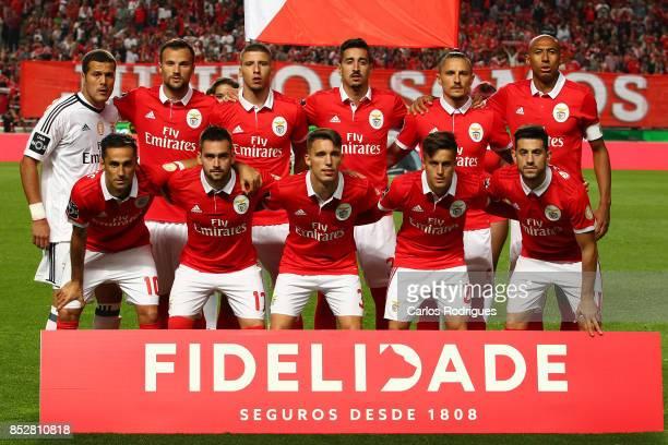 Benfica Initial team during the match between SL Benfica and FC Paco de Ferreira for the round seven of the Portuguese Primeira Liga at Estadio da...