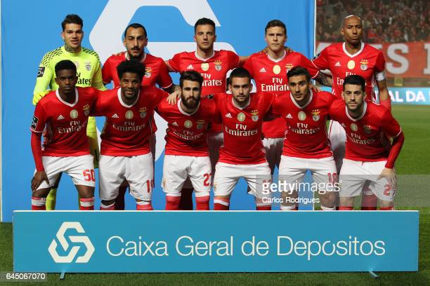 Benfica initial team during the match between SL Benfica and GD Chaves for the Portuguese Primeira Liga at Estadio da Luz on February 24 2017 in...