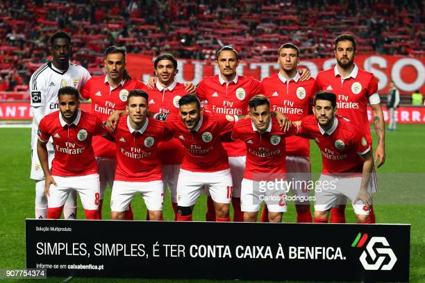 Benfica initial team during the match between SL Benfica and GD Chaves for the Portuguese Primeira Liga at Estadio da Luz on January 20 2018 in...