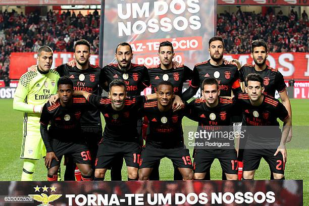 Benfica initial team during the match between SL Benfica and Leixoes for the Portuguese cup at Estadio da Luz on January 18 2017 in Lisbon Portugal