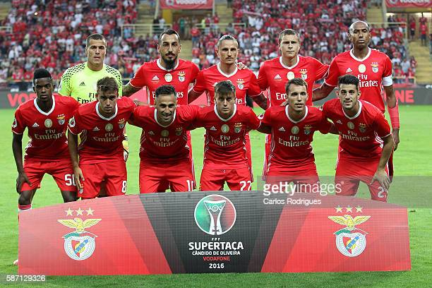 Benfica initial team during the match between SL Benfica v SC Braga for Portuguese Super Cup at Estadio Municipal de Aveiro on August 7 2016 in...