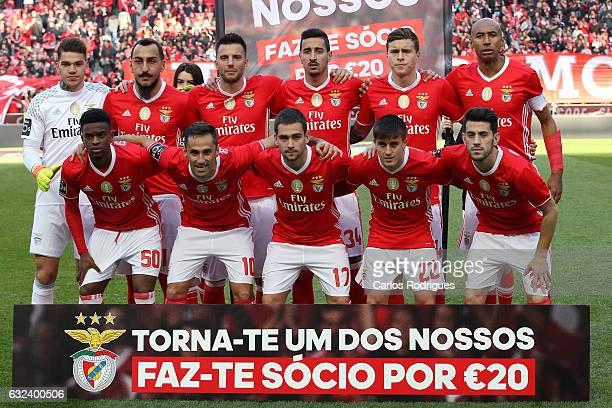 Benfica initial team during the match between SL Benfica v Tondela Primeira Liga at Estadio da Luz on January 22 2017 in Lisbon Portugal