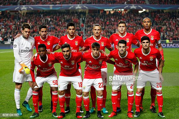 Benfica initial team during the UEFA Champions League group B match between SL Benfica v SSC Napoli at Estadio da Luz on December 06 2016 in Lisbon...