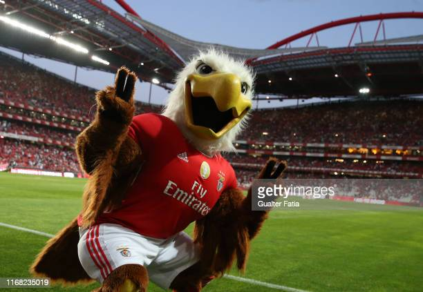 Benfica Mascot in action during the Liga NOS match between SL Benfica and Gil Vicente FC at Estadio da Luz on September 14 2019 in Lisbon Portugal