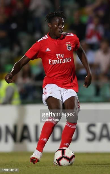 Benfica midfielder Alfa Semedo from Guinea Bissau in action during the PreSeason Friendly match between SL Benfica and Vitoria Setubal at Estadio do...