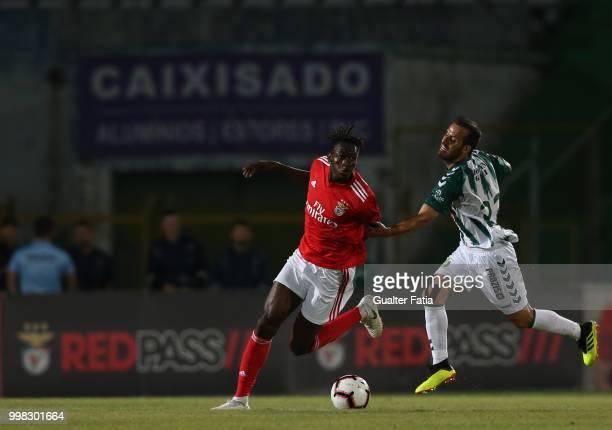 Benfica midfielder Alfa Semedo from Guinea Bissau with Vitoria Setubal midfielder Ruben Micael from Portugal in action during the PreSeason Friendly...