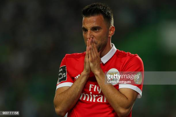 Benfica midfielder Andreas Samaris from Greece during the Portuguese Primeira Liga match between Sporting CP and SL Benfica at Estadio Jose Alvalade...